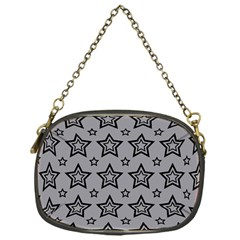 Star Grey Black Line Space Chain Purses (One Side)