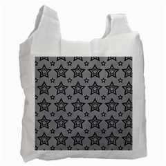 Star Grey Black Line Space Recycle Bag (one Side)