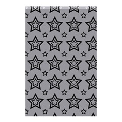 Star Grey Black Line Space Shower Curtain 48  X 72  (small)