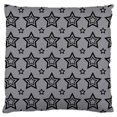 Star Grey Black Line Space Large Cushion Case (One Side)