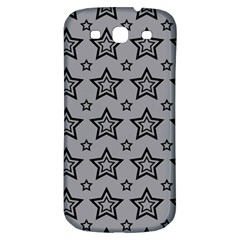 Star Grey Black Line Space Samsung Galaxy S3 S III Classic Hardshell Back Case