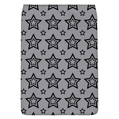 Star Grey Black Line Space Flap Covers (L)