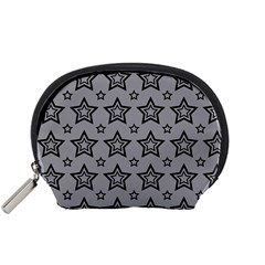 Star Grey Black Line Space Accessory Pouches (Small)