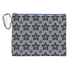 Star Grey Black Line Space Canvas Cosmetic Bag (XXL)