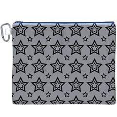 Star Grey Black Line Space Canvas Cosmetic Bag (XXXL)