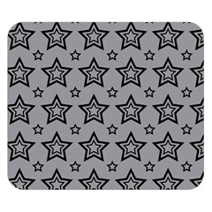 Star Grey Black Line Space Double Sided Flano Blanket (Small)