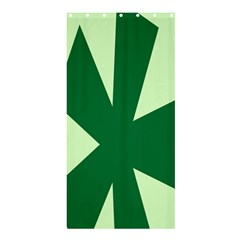 Starburst Shapes Large Circle Green Shower Curtain 36  x 72  (Stall)