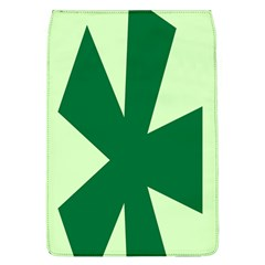 Starburst Shapes Large Circle Green Flap Covers (L)