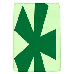 Starburst Shapes Large Circle Green Flap Covers (S)