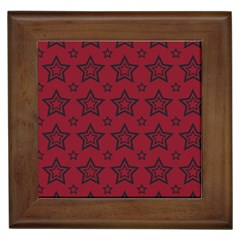 Star Red Black Line Space Framed Tiles