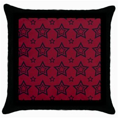Star Red Black Line Space Throw Pillow Case (Black)