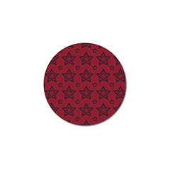 Star Red Black Line Space Golf Ball Marker (10 pack)