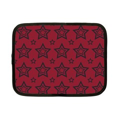 Star Red Black Line Space Netbook Case (Small)