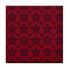 Star Red Black Line Space Face Towel