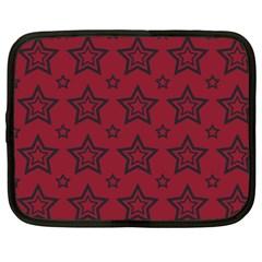 Star Red Black Line Space Netbook Case (XXL)