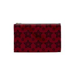 Star Red Black Line Space Cosmetic Bag (Small)
