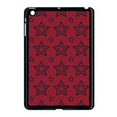 Star Red Black Line Space Apple iPad Mini Case (Black)