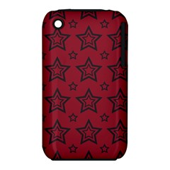 Star Red Black Line Space iPhone 3S/3GS
