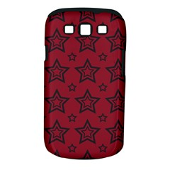 Star Red Black Line Space Samsung Galaxy S III Classic Hardshell Case (PC+Silicone)