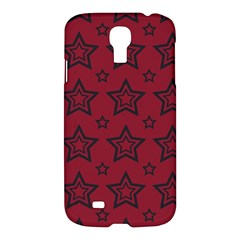 Star Red Black Line Space Samsung Galaxy S4 I9500/I9505 Hardshell Case