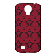 Star Red Black Line Space Samsung Galaxy S4 Classic Hardshell Case (PC+Silicone)
