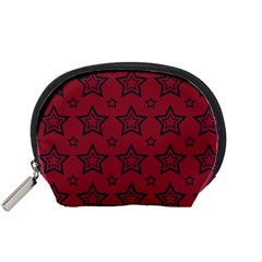 Star Red Black Line Space Accessory Pouches (Small)