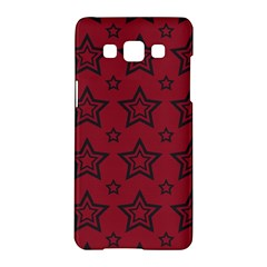 Star Red Black Line Space Samsung Galaxy A5 Hardshell Case