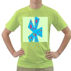 Starburst Shapes Large Circle Green Blue Red Orange Circle Green T-Shirt