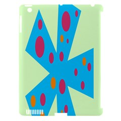 Starburst Shapes Large Circle Green Blue Red Orange Circle Apple iPad 3/4 Hardshell Case (Compatible with Smart Cover)