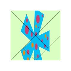 Starburst Shapes Large Circle Green Blue Red Orange Circle Acrylic Tangram Puzzle (4  x 4 )