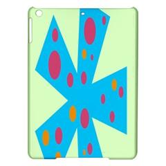 Starburst Shapes Large Circle Green Blue Red Orange Circle iPad Air Hardshell Cases