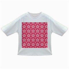 Star Pink White Line Space Infant/toddler T Shirts