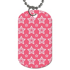 Star Pink White Line Space Dog Tag (One Side)
