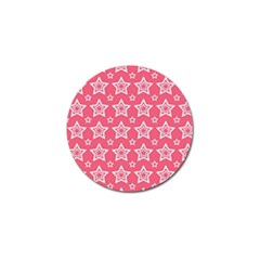 Star Pink White Line Space Golf Ball Marker (4 Pack)