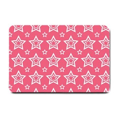 Star Pink White Line Space Small Doormat