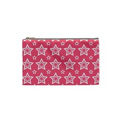 Star Pink White Line Space Cosmetic Bag (Small)