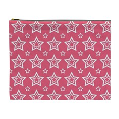 Star Pink White Line Space Cosmetic Bag (XL)