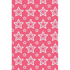 Star Pink White Line Space 5.5  x 8.5  Notebooks