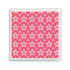 Star Pink White Line Space Memory Card Reader (Square)