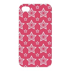 Star Pink White Line Space Apple iPhone 4/4S Hardshell Case