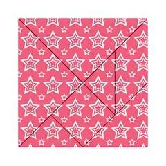 Star Pink White Line Space Acrylic Tangram Puzzle (6  x 6 )