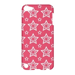 Star Pink White Line Space Apple iPod Touch 5 Hardshell Case