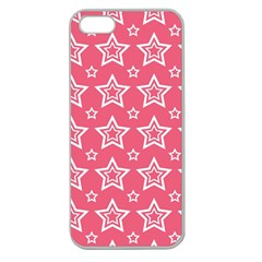 Star Pink White Line Space Apple Seamless iPhone 5 Case (Clear)