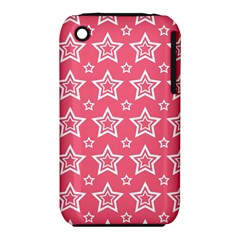 Star Pink White Line Space iPhone 3S/3GS
