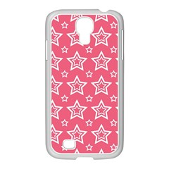 Star Pink White Line Space Samsung GALAXY S4 I9500/ I9505 Case (White)