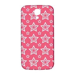 Star Pink White Line Space Samsung Galaxy S4 I9500/I9505  Hardshell Back Case