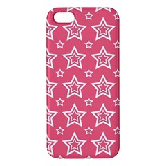 Star Pink White Line Space iPhone 5S/ SE Premium Hardshell Case