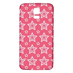 Star Pink White Line Space Samsung Galaxy S5 Back Case (White)