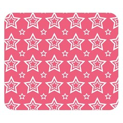 Star Pink White Line Space Double Sided Flano Blanket (Small)