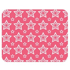 Star Pink White Line Space Double Sided Flano Blanket (Medium)
